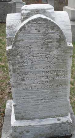 BREWER, SARAH L. - Montgomery County, Ohio | SARAH L. BREWER - Ohio Gravestone Photos