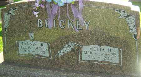 BRICKEY, METTA H - Montgomery County, Ohio | METTA H BRICKEY - Ohio Gravestone Photos