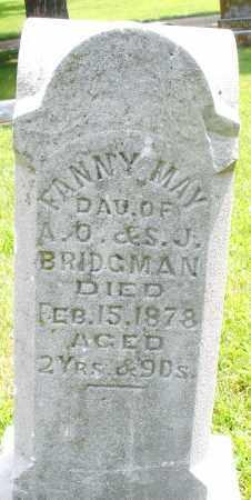 BRIDGMAN, FANNY MAY - Montgomery County, Ohio | FANNY MAY BRIDGMAN - Ohio Gravestone Photos