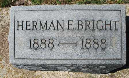 BRIGHT, HERMAN E. - Montgomery County, Ohio | HERMAN E. BRIGHT - Ohio Gravestone Photos