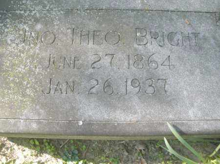 BRIGHT, JOHN THEODORE - Montgomery County, Ohio | JOHN THEODORE BRIGHT - Ohio Gravestone Photos