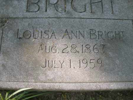 BRIGHT, LOUISA ANN - Montgomery County, Ohio | LOUISA ANN BRIGHT - Ohio Gravestone Photos