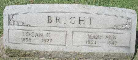 BRIGHT, MARY ANN - Montgomery County, Ohio | MARY ANN BRIGHT - Ohio Gravestone Photos