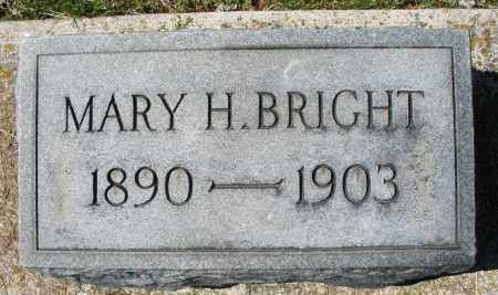 BRIGHT, MARY H. - Montgomery County, Ohio | MARY H. BRIGHT - Ohio Gravestone Photos
