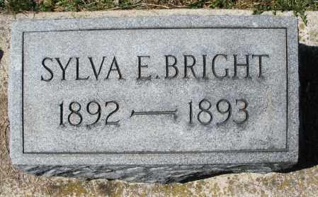 BRIGHT, SYLVA E. - Montgomery County, Ohio | SYLVA E. BRIGHT - Ohio Gravestone Photos