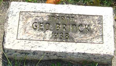 BRINCK, GEORGE - Montgomery County, Ohio | GEORGE BRINCK - Ohio Gravestone Photos
