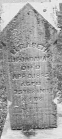 BROADAWAY, ELIZABETH - Montgomery County, Ohio   ELIZABETH BROADAWAY - Ohio Gravestone Photos