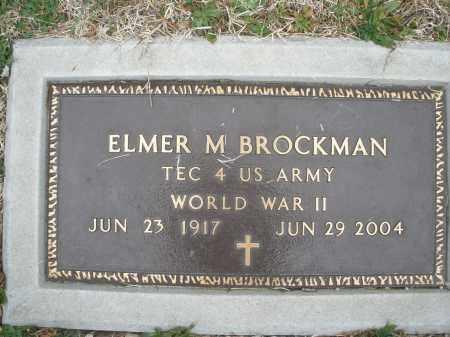 BROCKMAN, ELMER M. - Montgomery County, Ohio | ELMER M. BROCKMAN - Ohio Gravestone Photos