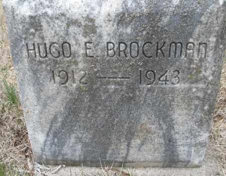 BROCKMAN, HUGO E. - Montgomery County, Ohio | HUGO E. BROCKMAN - Ohio Gravestone Photos
