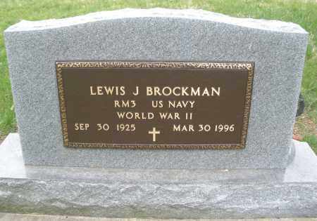 BROCKMAN, LEWIS J. - Montgomery County, Ohio | LEWIS J. BROCKMAN - Ohio Gravestone Photos