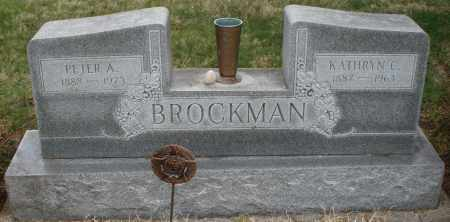 BROCKMAN, PETER A. - Montgomery County, Ohio | PETER A. BROCKMAN - Ohio Gravestone Photos