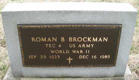 BROCKMAN, ROMAN B. - Montgomery County, Ohio | ROMAN B. BROCKMAN - Ohio Gravestone Photos