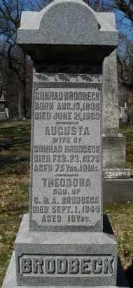 BRODBECK, THEODORA - Montgomery County, Ohio | THEODORA BRODBECK - Ohio Gravestone Photos