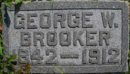 BROOKER, GEORGE W. - Montgomery County, Ohio | GEORGE W. BROOKER - Ohio Gravestone Photos