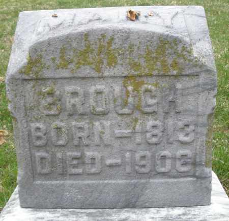 BROUGH, MARY - Montgomery County, Ohio | MARY BROUGH - Ohio Gravestone Photos