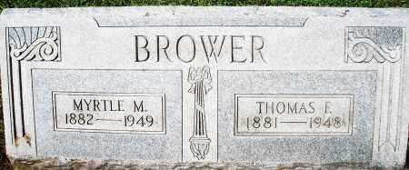 BROWER, THOMAS F. - Montgomery County, Ohio | THOMAS F. BROWER - Ohio Gravestone Photos