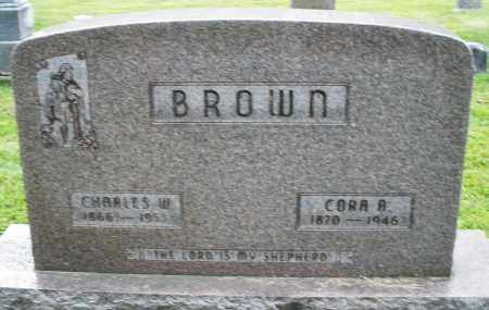 BROWN, CHARLES W. - Montgomery County, Ohio | CHARLES W. BROWN - Ohio Gravestone Photos