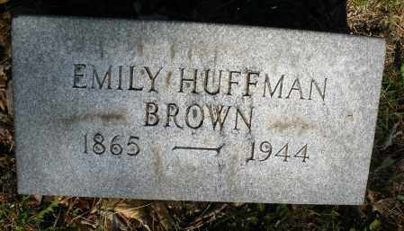 HUFFMAN BROWN, EMILY - Montgomery County, Ohio | EMILY HUFFMAN BROWN - Ohio Gravestone Photos
