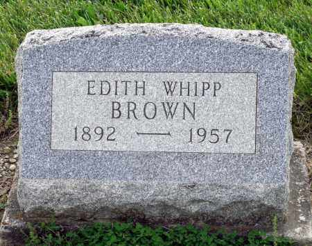 WHIPP BROWN, EDITH - Montgomery County, Ohio | EDITH WHIPP BROWN - Ohio Gravestone Photos