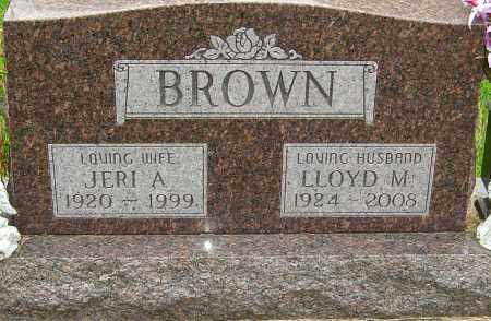 "BROWN, GERALDINE A ""JERI"" - Montgomery County, Ohio 