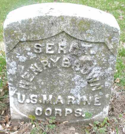 BROWN, HENRY - Montgomery County, Ohio | HENRY BROWN - Ohio Gravestone Photos