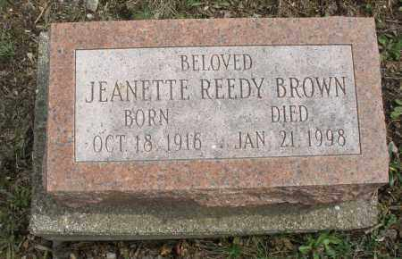 REEDY BROWN, JEANETTE - Montgomery County, Ohio | JEANETTE REEDY BROWN - Ohio Gravestone Photos