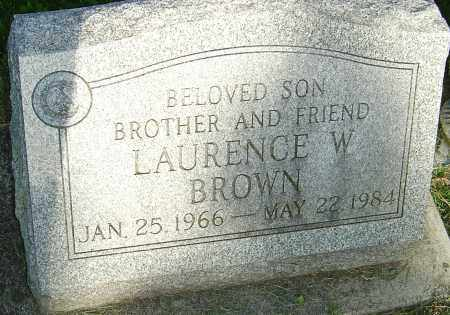 BROWN, LAURENCE W - Montgomery County, Ohio | LAURENCE W BROWN - Ohio Gravestone Photos