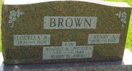 BROWN, WENDELL A - Montgomery County, Ohio | WENDELL A BROWN - Ohio Gravestone Photos