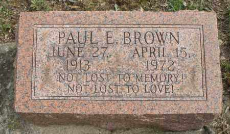 BROWN, PAUL E. - Montgomery County, Ohio | PAUL E. BROWN - Ohio Gravestone Photos