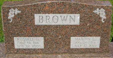 BROWN, RUSSELL N - Montgomery County, Ohio | RUSSELL N BROWN - Ohio Gravestone Photos