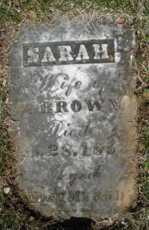 BROWN, SARAH - Montgomery County, Ohio | SARAH BROWN - Ohio Gravestone Photos