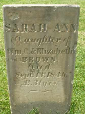 CART...? BROWN, SARAH ANN - Montgomery County, Ohio | SARAH ANN CART...? BROWN - Ohio Gravestone Photos