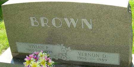 BROWN, VERNON D - Montgomery County, Ohio | VERNON D BROWN - Ohio Gravestone Photos