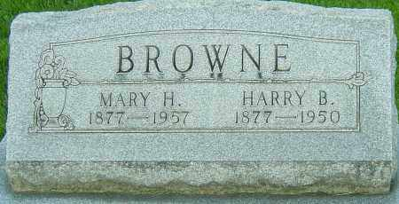 BROWNE, HARRY B - Montgomery County, Ohio | HARRY B BROWNE - Ohio Gravestone Photos
