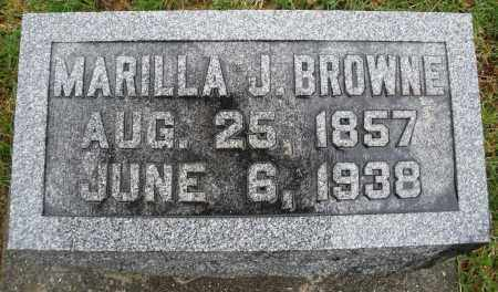 BROWNE, MARILLA J. - Montgomery County, Ohio | MARILLA J. BROWNE - Ohio Gravestone Photos