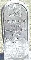 BRUMBAUGH, DAVID - Montgomery County, Ohio | DAVID BRUMBAUGH - Ohio Gravestone Photos