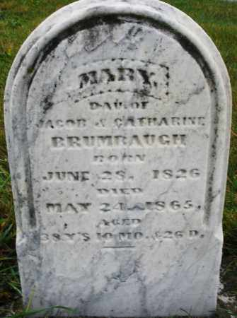 BRUMBAUGH, MARY - Montgomery County, Ohio | MARY BRUMBAUGH - Ohio Gravestone Photos
