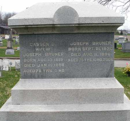 BRUNER, CASSEN D. - Montgomery County, Ohio | CASSEN D. BRUNER - Ohio Gravestone Photos