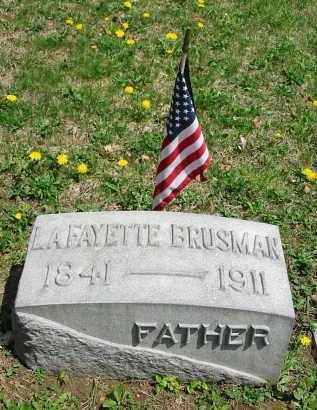 BRUSMAN, LAFAYETTE - Montgomery County, Ohio | LAFAYETTE BRUSMAN - Ohio Gravestone Photos