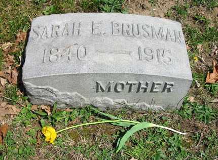BRUSMAN, SARAH E. - Montgomery County, Ohio | SARAH E. BRUSMAN - Ohio Gravestone Photos
