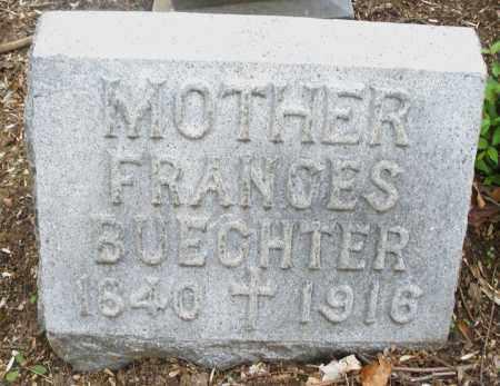 BUECHTER, FRANCES - Montgomery County, Ohio | FRANCES BUECHTER - Ohio Gravestone Photos