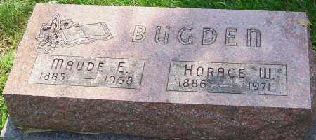 BUGDEN, MAUDE E - Montgomery County, Ohio | MAUDE E BUGDEN - Ohio Gravestone Photos