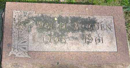 BUGDEN, WILLIAM HORACE - Montgomery County, Ohio | WILLIAM HORACE BUGDEN - Ohio Gravestone Photos