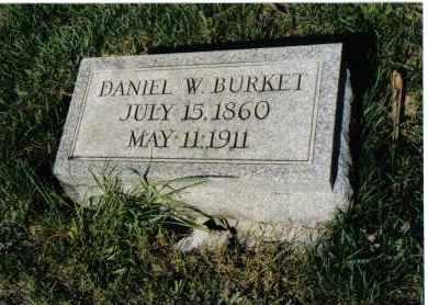 BURKET, DANIEL W. - Montgomery County, Ohio | DANIEL W. BURKET - Ohio Gravestone Photos