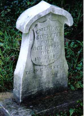 BURKETT, EMERY B. - Montgomery County, Ohio | EMERY B. BURKETT - Ohio Gravestone Photos