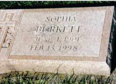 BURKETT, SOPHIA - Montgomery County, Ohio | SOPHIA BURKETT - Ohio Gravestone Photos