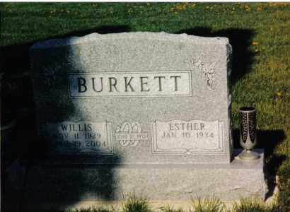 BURKETT, WILLIS - Montgomery County, Ohio | WILLIS BURKETT - Ohio Gravestone Photos