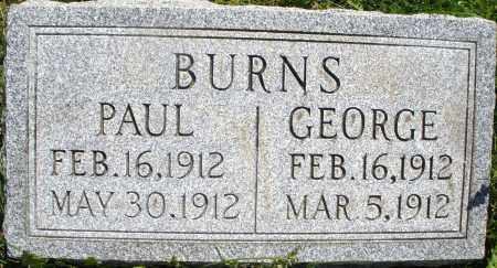 BURNS, PAUL - Montgomery County, Ohio | PAUL BURNS - Ohio Gravestone Photos
