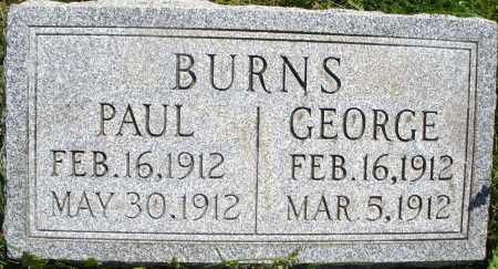 BURNS, PAUL - Montgomery County, Ohio | PAUL BURNS - Ohio Gravestone Photos