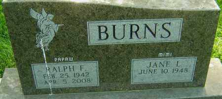 BURNS, RALPH F - Montgomery County, Ohio | RALPH F BURNS - Ohio Gravestone Photos